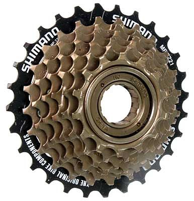 SHIMANO TOURNEY 7 SPEED SCREW ON FREEWHEEL 14-28 TEETH Enlarged Preview