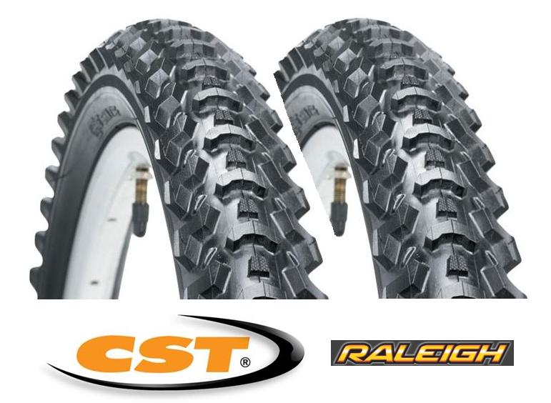 2X CST RALEIGH MTB BIKE CYCLE TYRES 26 X 1.95 PAIR Enlarged Preview