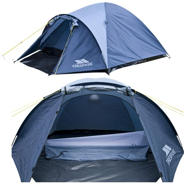 TRESPASS GHABHAR 4 MAN CAMPING FESTIVAL TENT Enlarged Preview