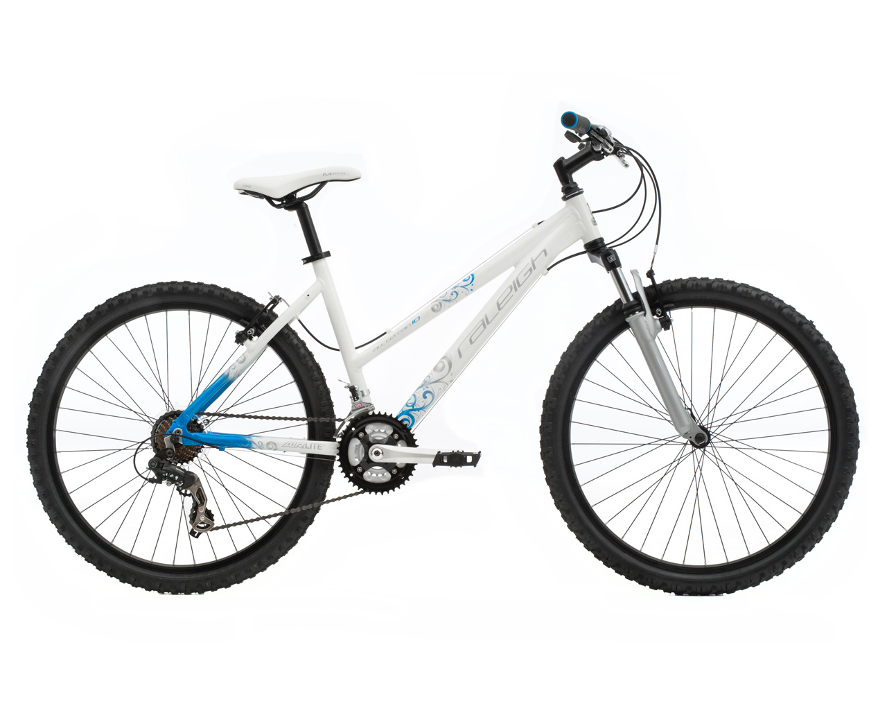 RALEIGH FREERIDE AT10 WOMENS LADIES WHITE/BLUE MOUNTAIN BIKE RRP £259.99 Enlarged Preview
