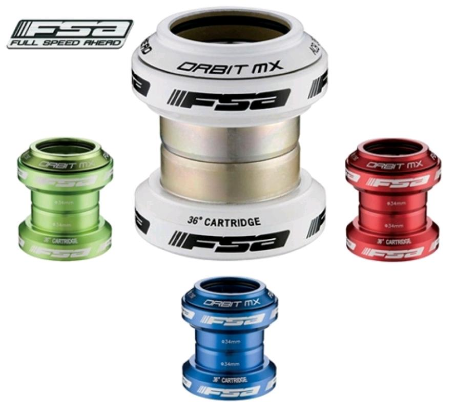 FSA ORBIT MX SEALED HEADSET 1 1/8'' BLUE RED WHITE GREEN  Enlarged Preview