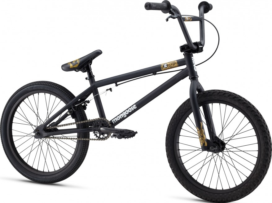 MONGOOSE LOGO BMX BIKE MATTE BLACK BRAND NEW BOXED 2011 Enlarged Preview