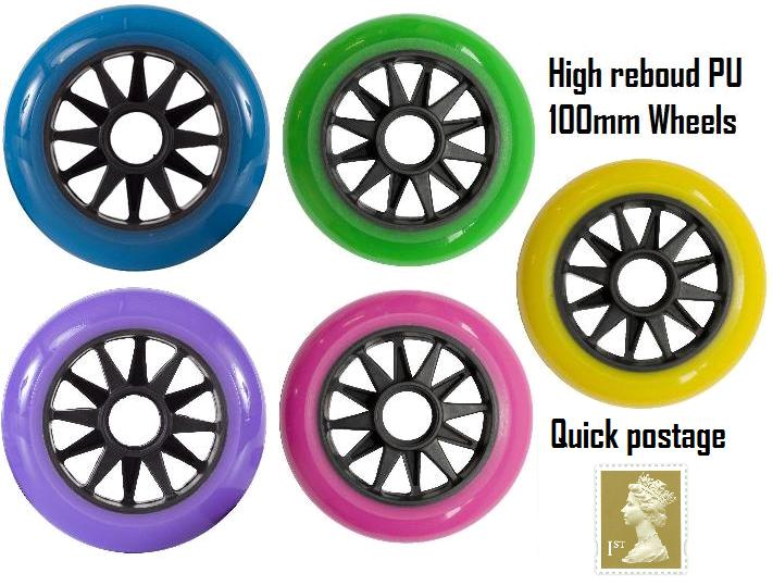 100MM STUNT SCOOTER WHEEL FITS JD BUG RAZOR ROCES MADD RAZOR SCOOTERS Enlarged Preview