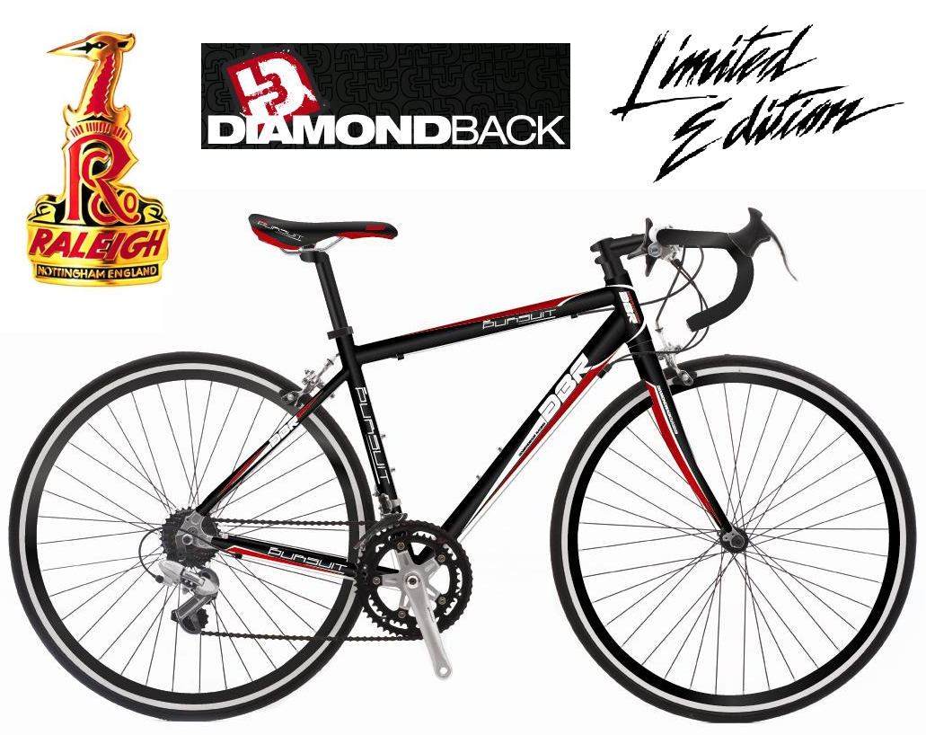 2012 RALEIGH DIAMONDBACK EQUIPE ROAD RACING BIKE BLACK LTD EDITION RRP £299.99 Enlarged Preview