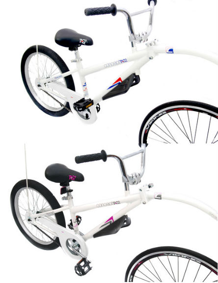 REFLEX FOLDING KIDS CHILDRENS TRAILER BIKE TAG A LONG CHILDS BIKE RRP £149.99 Enlarged Preview