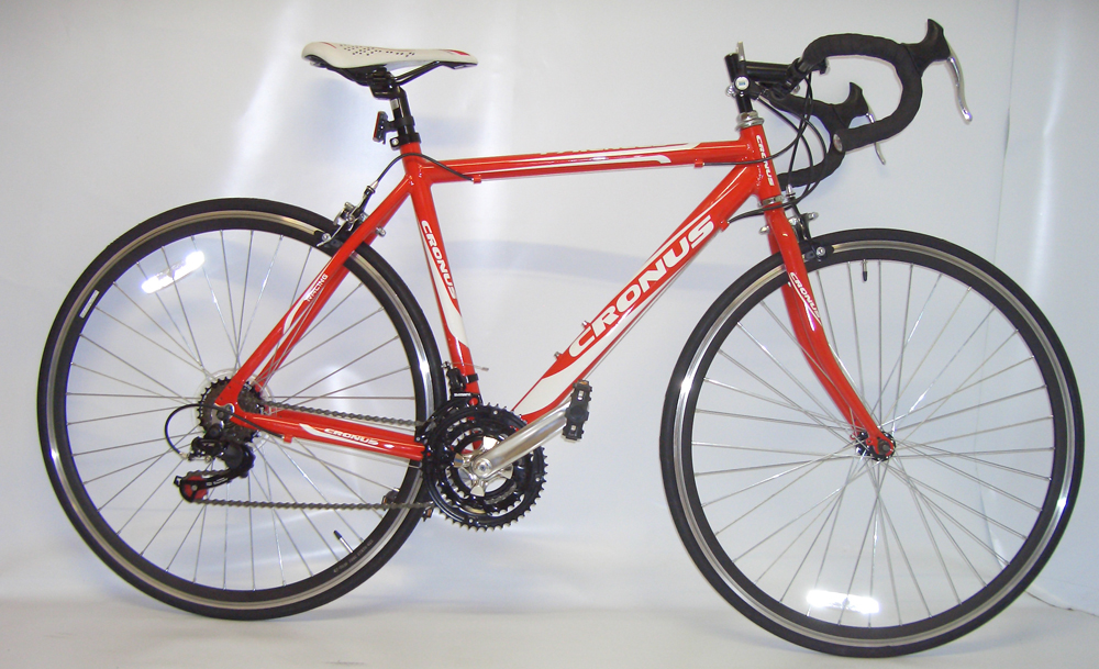 CRONUS PYRENEES 52CM LIGHTWEIGHT ROAD RACING BIKE RED 18SPD SHIMANO RETURNS Enlarged Preview