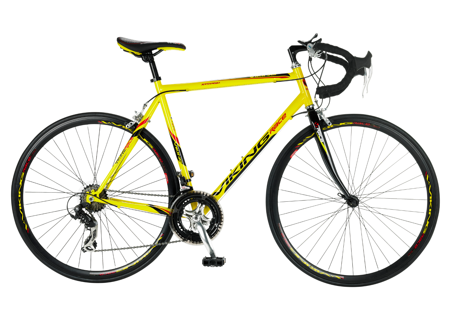 viking jetstream 700c lightweight mens road bike yellow 14 speed new ebay. Black Bedroom Furniture Sets. Home Design Ideas