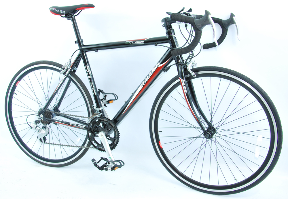 CHEAP 14 SPEED ENTRY LEVEL ROAD RACING BIKE BLACK URBAN STUDENT BICYCLE 47 55CM  Enlarged Preview