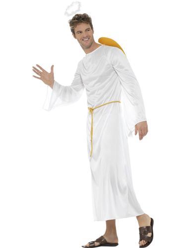 Holy Angel Adults Fancy Dress Christmas Xmas Nativity Womens Mens Costumes New
