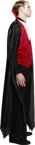 Vampire Mens Fancy Dress Gothic Count Dracula Adults Halloween Costume Outfit