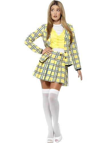 Clueless Ladies Fancy Dress Film Movie Character Novelty Womens Adults Costumes
