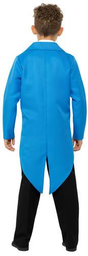 Blue Tailcoat Kids Fancy Dress Showtime Boys Girls Childrens Costume Accessory