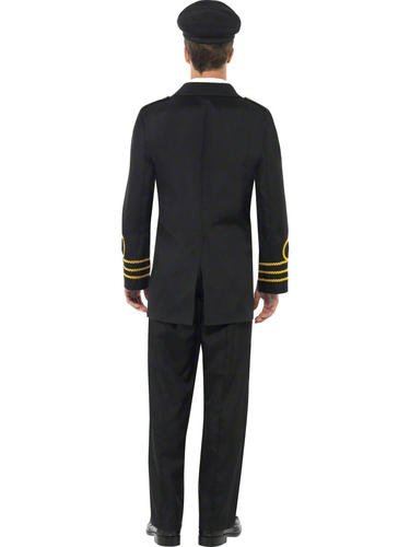 Navy Officer Adults Fancy Dress Military Army Marine Soldier 40s Wartime Costume