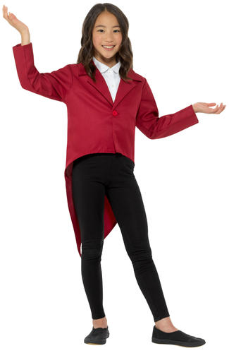 Tailcoat Kids Fancy Dress Showtime Showman Boys Girls Costume Accessory Jacket