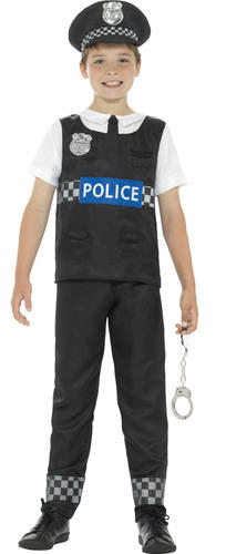 Handcuffs Boys Fancy Dress Policeman Officer Uniform Kids Childs Costume Cop