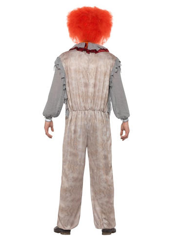 Vintage Clown Mens Fancy Dress Halloween Horror Circus Carnival Adults Costume