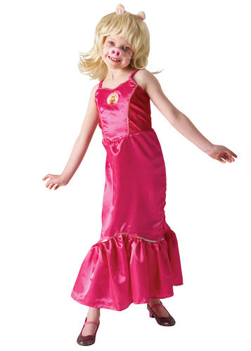 Girls Miss Piggy The Muppets Fancy Dress Kids TV Character Childs ...