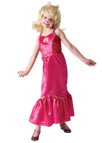 Girls Miss Piggy The Muppets Fancy Dress Kids TV Character Childs ...