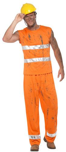 Mineur de charbon robe fantaisie homme uniforme occupation Builder Adultes Costume Outfit NEUF