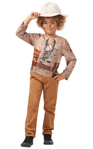Dino Explorer Boys Fancy Dress Safari Jungle Halloween Kids Childs Costume Kit
