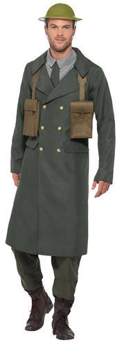 WW2 ROBE FANTAISIE MILITAIRE ARMÉE UNIFORME FEMME HOMME 1940 S Guerre Mondiale Adulte Costumes