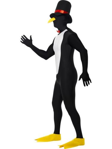Penguin 2nd Skin Mens Fancy Dress Lycra Bodysuit Adult Christmas Animal Costume