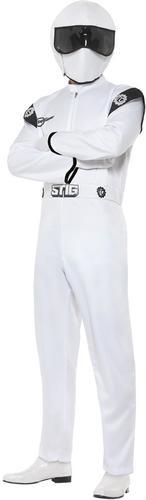 The Stig Mens Fancy Dress TV Top Gear Racing Car Driver Overalls Adults Costume