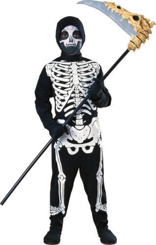 Ghost Skeleton Kids Halloween Fancy Dress Spooky Boys Girls Costume Outfits