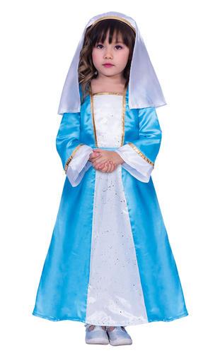 Mary Robe FANTAISIE Fille Noël Nativité Jouer Kids Childs Festif Noël Costume