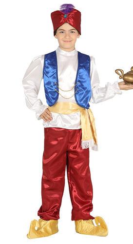 Arabian Prince Boys Costume Genie Kids Fairy Tale World Book Day Childs Costume