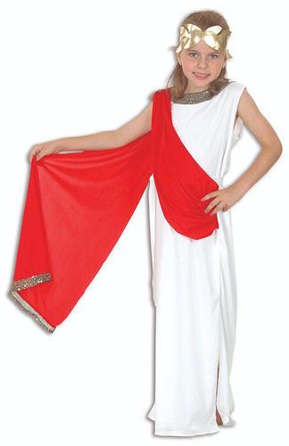 Ragazze Dea Romana Costume Greco Antico Greco KID World Book Day Costume