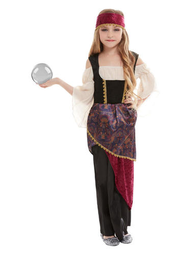 Deluxe chiromante Ragazze Costume Zingara GRANDE Showman Circo Bambini Costume