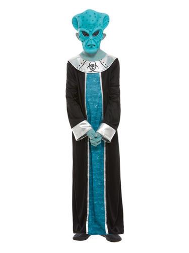Alien Boys Fancy Dress Space Martian Extraterrestrial Halloween Kids Costume