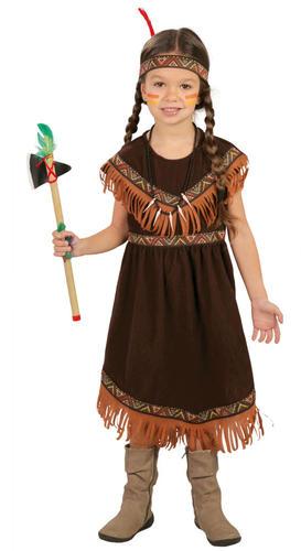 Rosso Indiano Ragazze Costume Bambini NATIVI AMERICANI Giornata Mondiale del Libro Costume