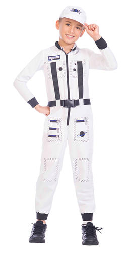 Astronaut Kids Fancy Dress Space Man Suit Uniform Boys Girls Costume Outfit
