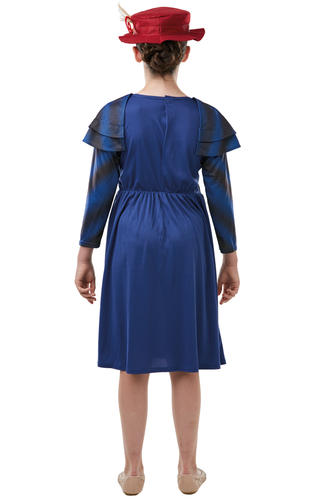 Mary Poppins Girls Fancy Dress Victorian Nanny Kid Disney World Book Day Costume