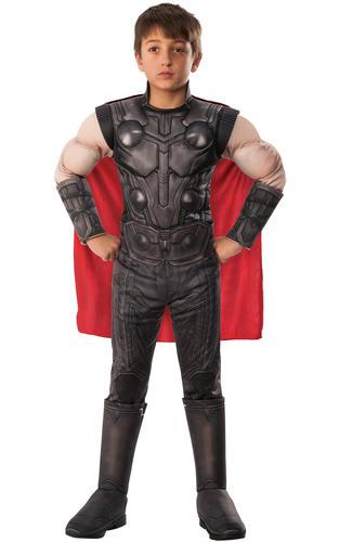 Ragazzi Thor Deluxe Costume Supereroe Avengers mossa finale bambini Costume di fumetti