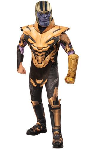 Deluxe Thanos Boys Fancy Dress Avengers Endgame Villain Kids Superhero Costume
