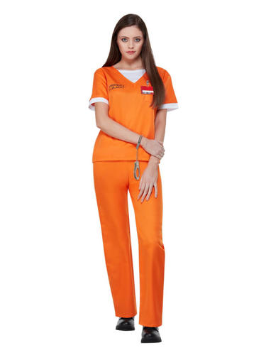 Orange is The New Black Prison Uniform Ladies Fancy Dress Convict Adults Costume