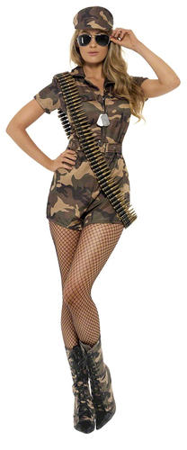 Sexy-Army-Shorts-Jumpsuit-Fancy-Dress-Ladies-Military-Army-Uniform-Women-Costume