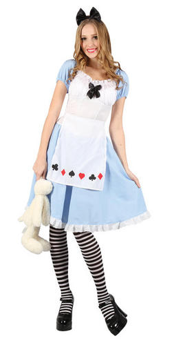 Adorable Alice Ladies Fancy Dress Fairy Tale Book Day Week Adults Costume Outfit