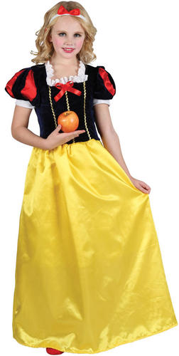 Girls Snow White Princess Fairytale Kids Fancy Dress Book Week Costume Age 3-13