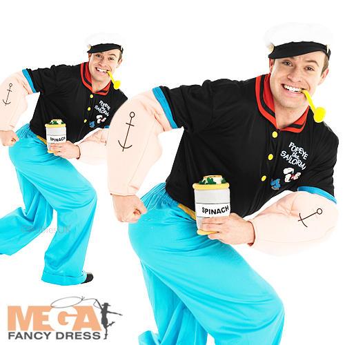 Cartoon Characters 80s Fancy Dress : Popeye sailor man cartoon mens fancy dress s uniform