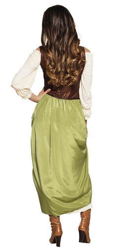 Village Wench Ladies Fancy Dress Romany Gypsy Maid Adults Womens Costume Outfit