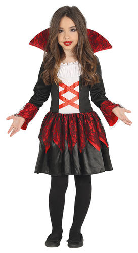 VAMPIRO Baronessa Ragazze Costume Gotica Halloween Vampiressa Bambini Costume da bambino