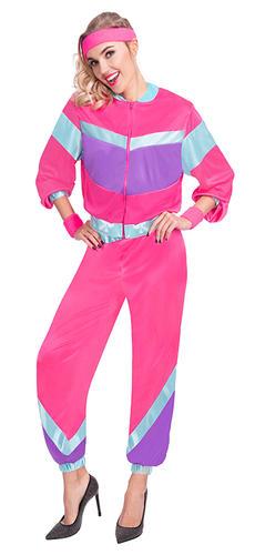 80s Shell Suit Ladies Fancy Dress 1980s Retro Tracksuit Adults Womens Costume