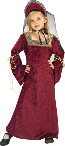 Royal Medieval Queen Girl's Fancy Dress Book Week Kids Costume Outfit Ages 3-10