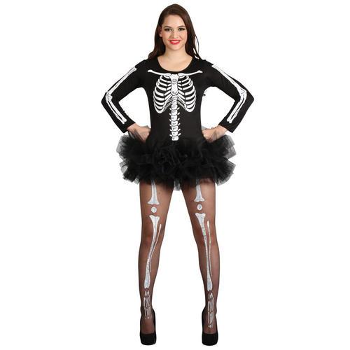 Sexy Tutu Skeleton Ladies Halloween Fancy Dress Adult Costume + ...