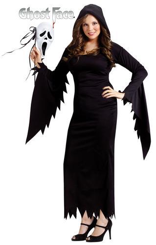 scream robe longue masque halloween film d 39 horreur femmes costume d guisement 8 14 ebay. Black Bedroom Furniture Sets. Home Design Ideas