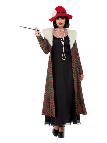 20s Gangster Aunt Polly Ladies Fancy Dress 1920s Peaky Blinders Adults Costume